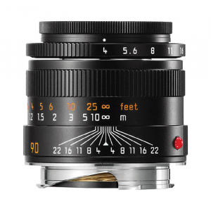 Leica Lens 90mm f4 Macro Kit (6-Bit, Black)