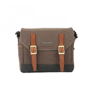 Herringbone Postman Small - Brown